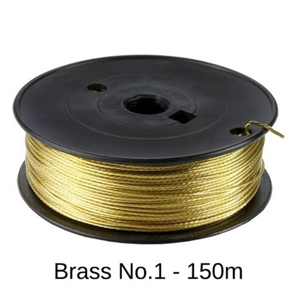 Brass Picture Hanging Wire (#1/6kg) - 150m Roll